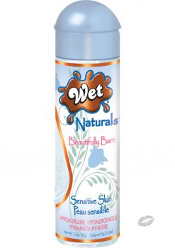 Wet Naturals Beautifully Bare Sensitive Skin Water Based Lubricant 3.3 Ounce
