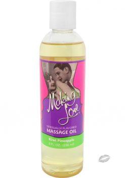 Making Love Massage Oil Kiwi Pineapple 8 Ounce