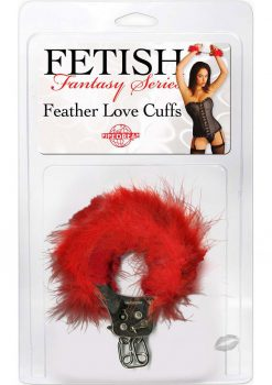 Fetish Fantasy Feather Love Cuffs Red