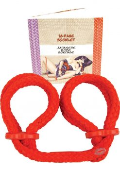Japanese Rope Wrist Cuffs Red