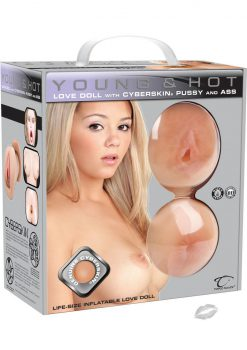 Young And Hot Inflatable Love Doll With Cyberskin Pussy and Ass Masturbators Waterproof Flesh
