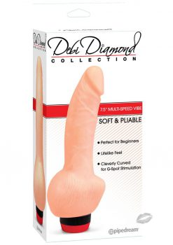 Debi Diamond Collection No 1 Vibrator 8 Inch Flesh