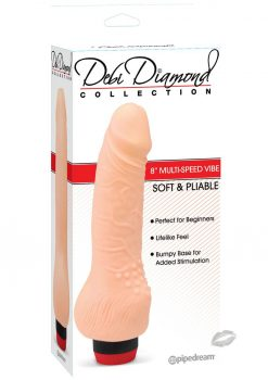 Debi Diamond Collection No 3 Vibrator  8 Inch Flesh