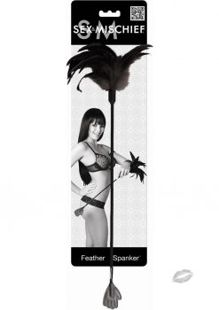 Sex And Mischief Feather Hand Spanker Black