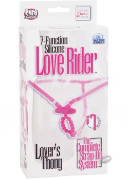 7 Function Silicone Love Rider Thong Pink