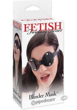Fetish Fantasy Vinyl Blinder Mask Black