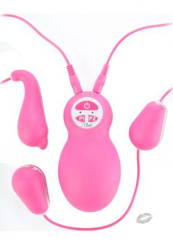 Closet Collection The Valentina Silicone Dolphin Bullet System Waterproof Pink