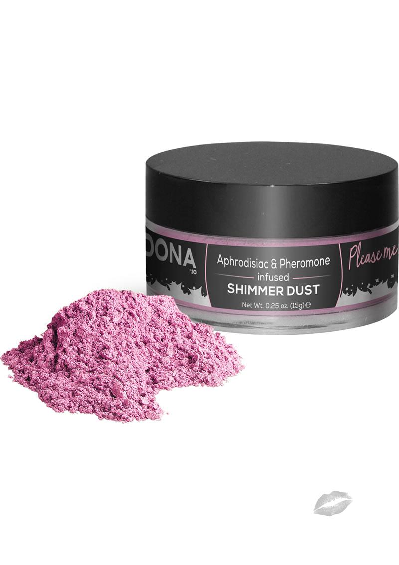 Dona Aphrodisiac and Pheromone Infused Shimmer Dust Pink .25 Ounce