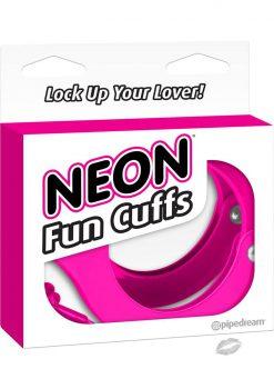 Neon Fun Metal Cuffs Pink