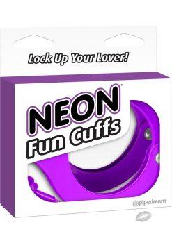 Neon Fun Metal Cuffs Purple