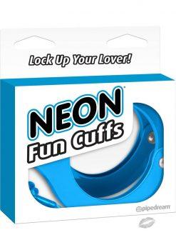 Neon Fun Metal Cuffs Blue