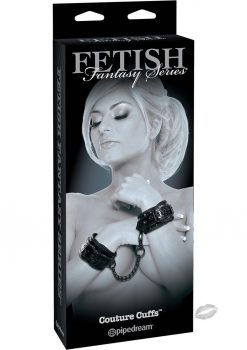 Fetish Fantasy Couture Cuffs Adjustable Black
