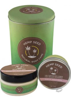 Hemp Seed Natural Body Care Tin Gift Set Skinny Dip