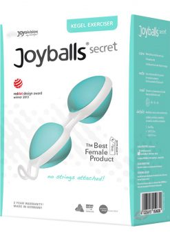 Joyballs Secret Dual Silicone Kegel Exerciser Mint And White