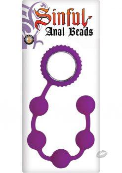 Sinful Anal Beads Purple