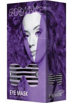 Bad Romance Translucent Eye Mask With Black Stripes