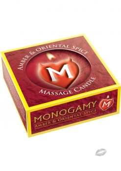 Monogamy Massage Candle Amber/spice