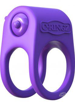 Fantasy C-Ringz Silicone Duo Ring Purple