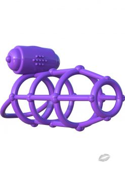 Fantasy C-Ringz Vibrating Climax Cage Purple