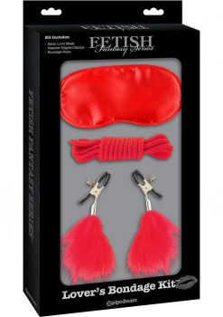 Fetish Fantasy Lovers Bondage Kit Red