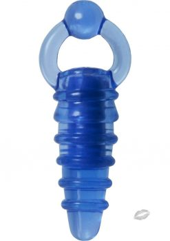 Adam and Eve Finger Banger Vibe Jelly Blue 3 Inch