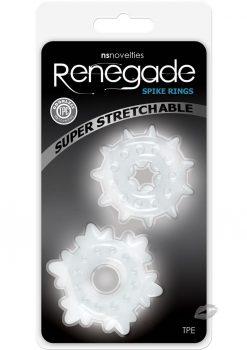 Renegade Spike Rings Clear