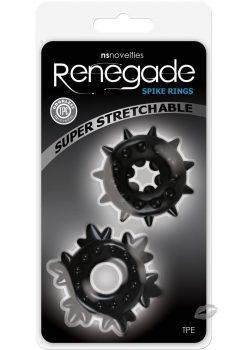 Renegade Spike Rings Black