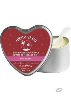 Hemp Seed 3 In 1 Massage Scented Candle Truth Or Dare 4 Ounce Tin Can