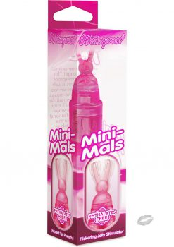 Mini Mals Bunny Massager Waterproof 4 Inch Pink
