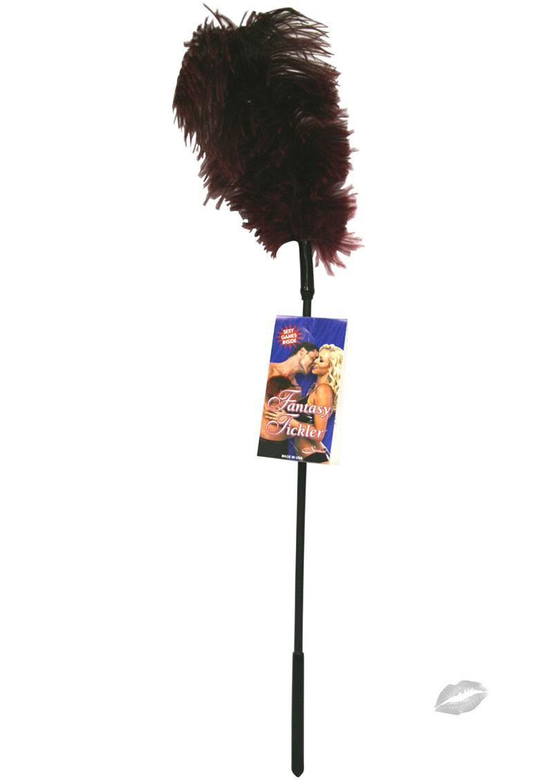 Ostrich Feather Burgundy Tickler