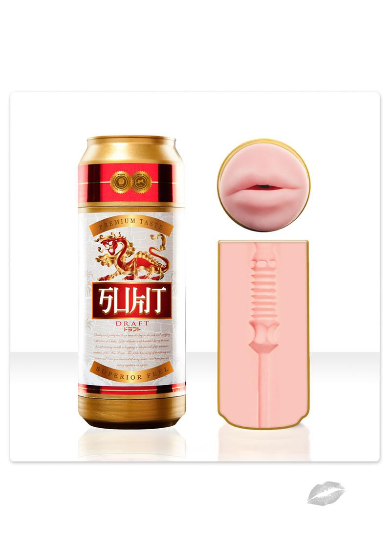 Fleshlight Sex In A Can Sukit Draft Mouth Textured Masturbator Pink