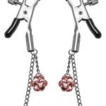 Frisky Crystal Clamps Adjustable Nipple Clamps Pink