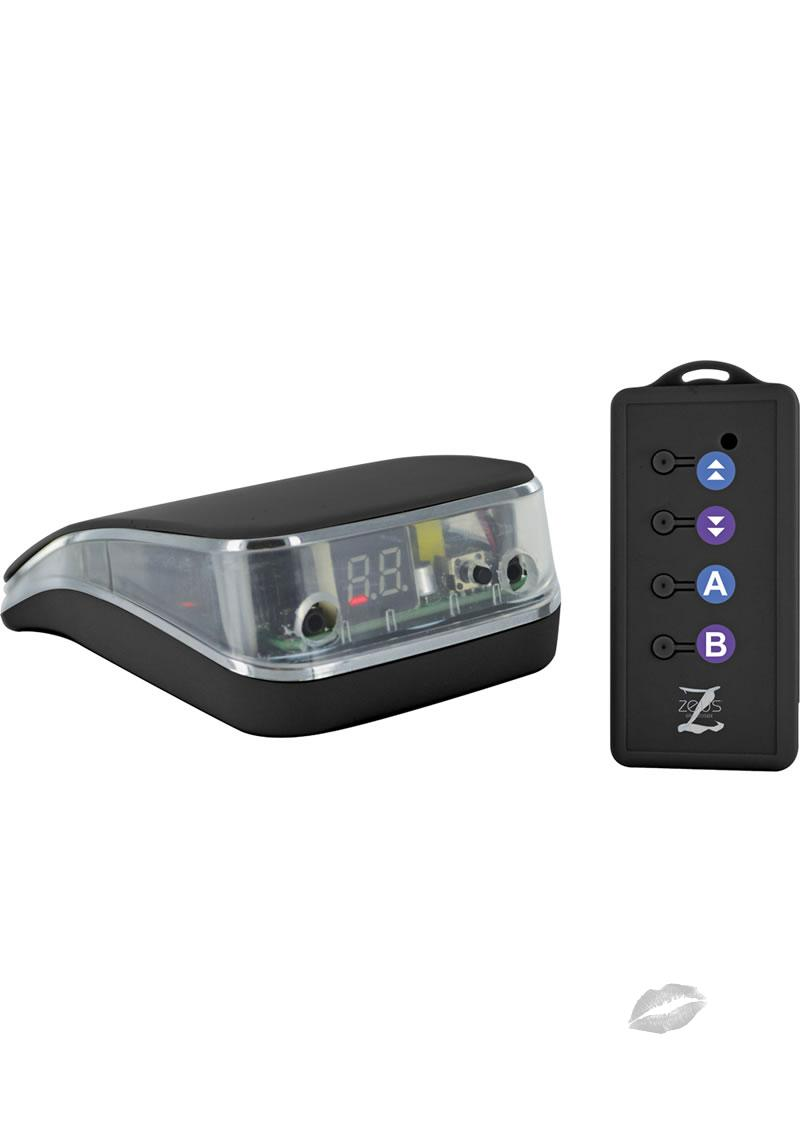 Zeus Energize Remote Control Electro Stim Power Box Black