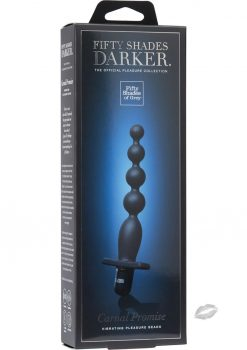 Fifty Shades Darker Carnal Promise Silicone Vibrating Pleasure Beads Blacks