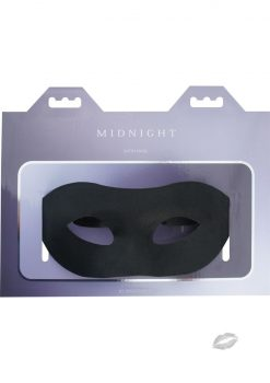 Midnight Satin Mask Adjustable Tie Black