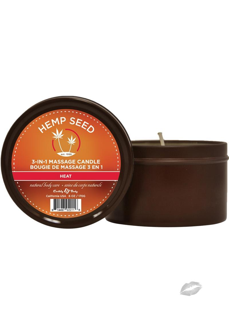 Round Massage Candle Heat