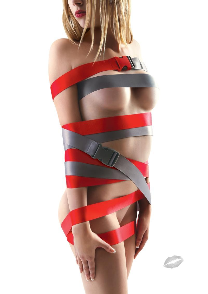 Bondage Straps Red 2  8ft (2.4m)