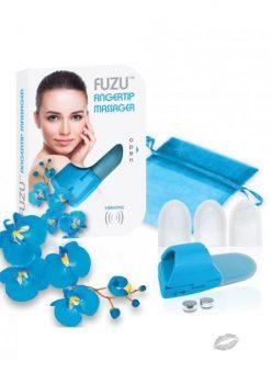 Fuzu Fingertip Massager Neon Blue