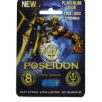 Poseidon Platinum 3500 Blue Male Stamina Supplement 1 Pill Pack