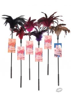 Fantasy Feather Tickler 6 Piece Assorted Colors