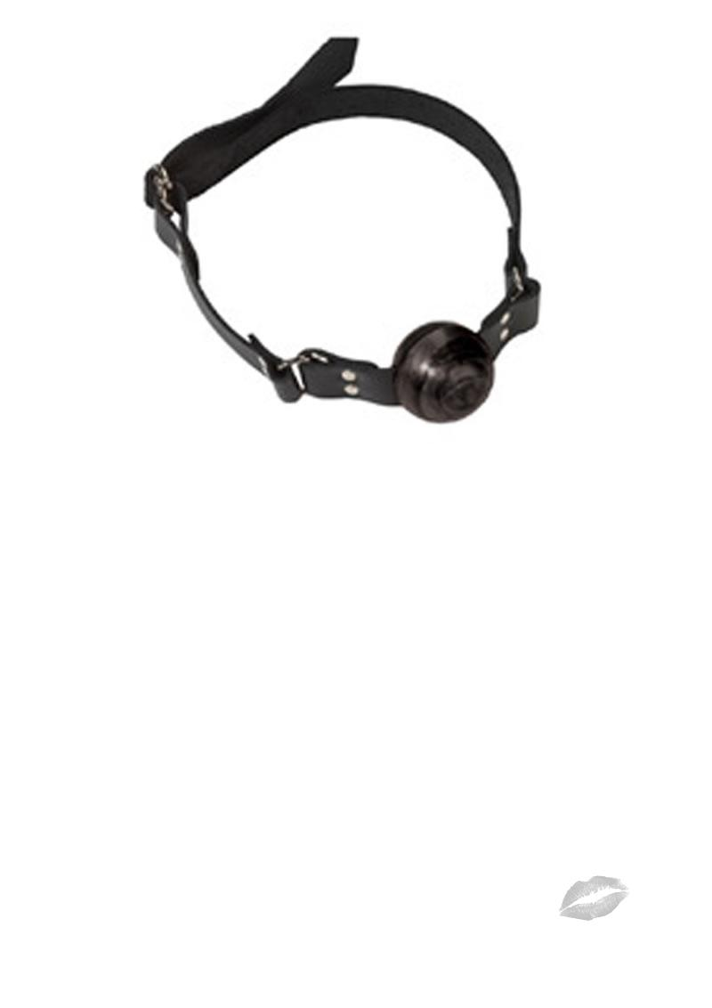 Small Black Ball Gag - D Ring