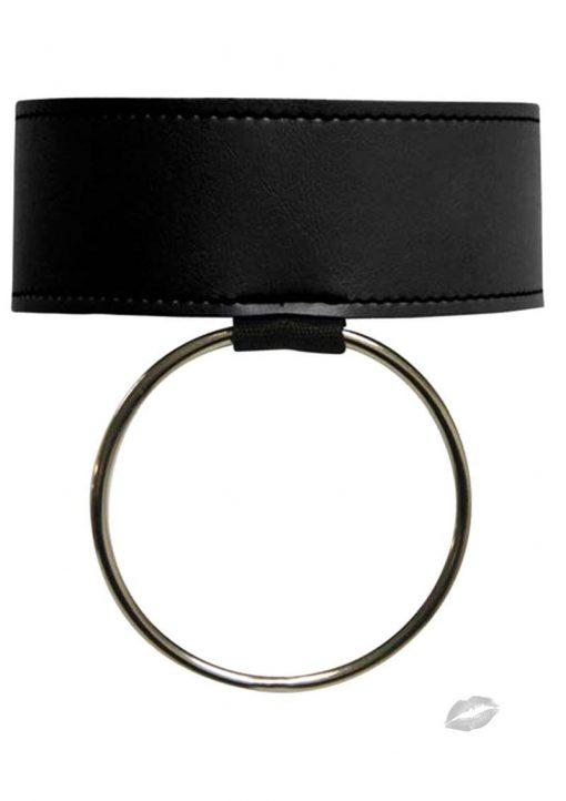Sex And Mischief Ring Collar Black
